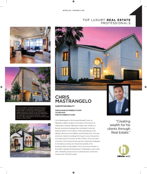 An article exerpt about our founder, Chris Mastrangelo