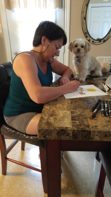 I'm making sure Mommy does a good job on the pictures for our next book.