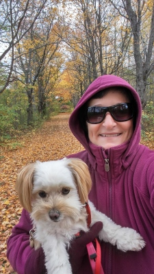 Me and Mom's favorite time of year to walk...the fall.