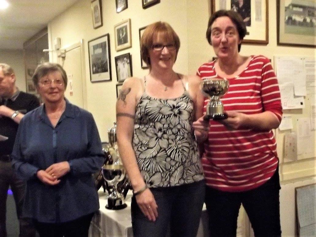Ladies Open Triples Winners 2015 and 2017 Karen Brown, Helen Redburn and Marie Todd