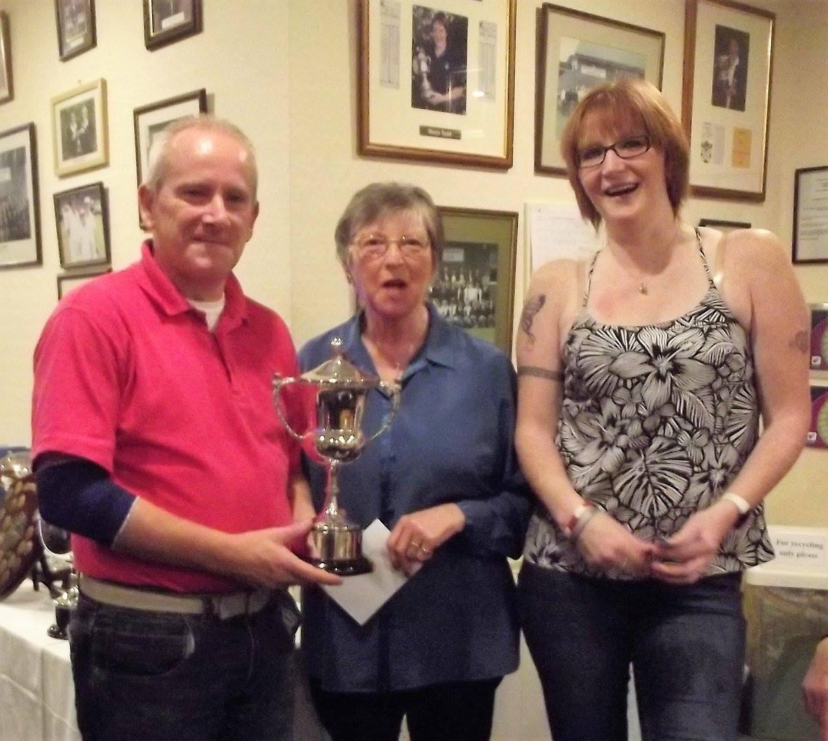 Mcrobert Cup winners Brian Lumley, Karen Brown and Ian Turnbull
