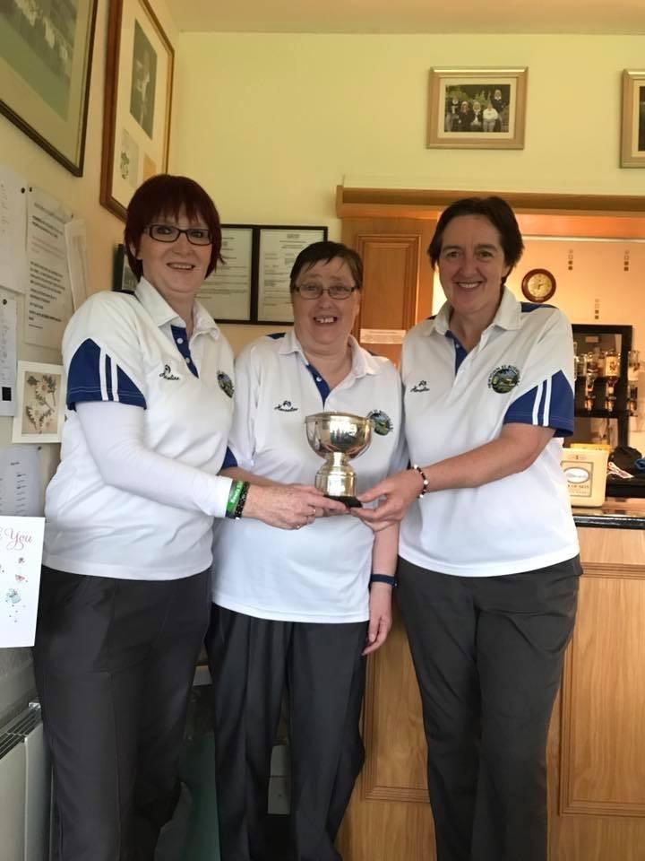 Ladies Open Pairs Winners 2015,2017 Karen Brown, Helen Redburn and Marie Todd