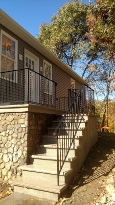 Ornamental wrought iron railings: