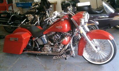 21 inch softail bagger