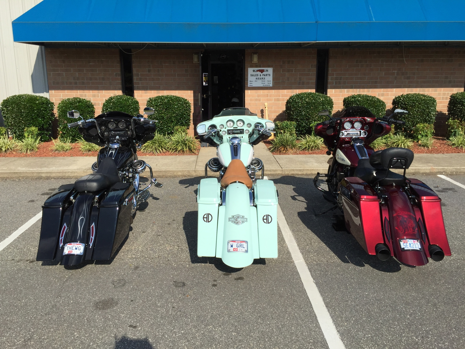 Bad Dad rear sets up, competition series bags... 3 options for tail lights