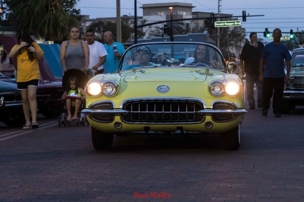 Tara's 58 Corvette at Longwood Cruise