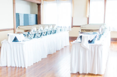 Our Parlor Room serves as our buffet service area for larger events.