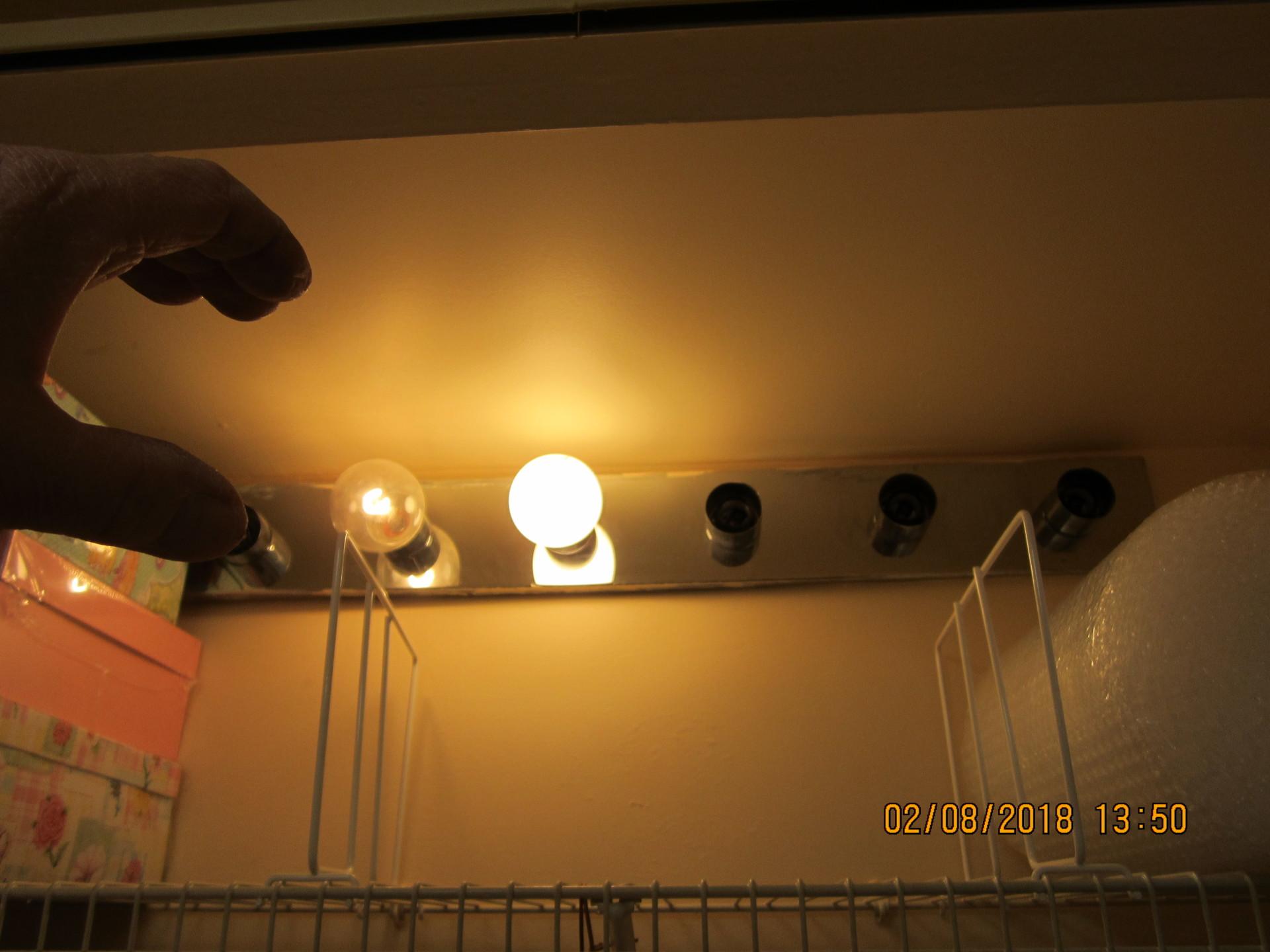 Bedroom closet lights unprotected