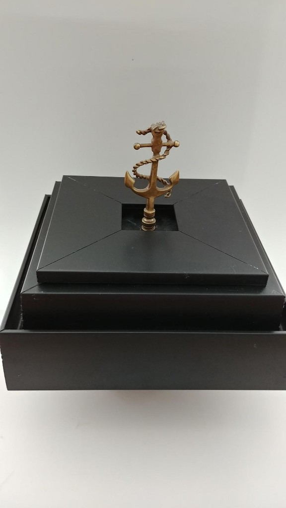 Sleek Black Box with Anchor