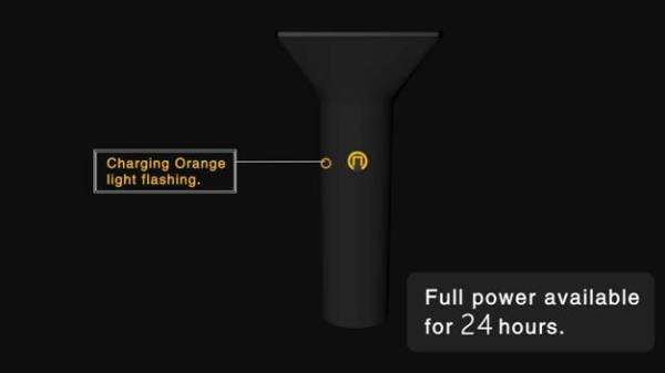 Charging indicator color - Orange