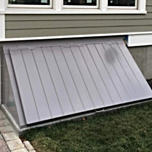 LuciGold lightweight all aluminum basement bulkhead door for Extra-wide entry way