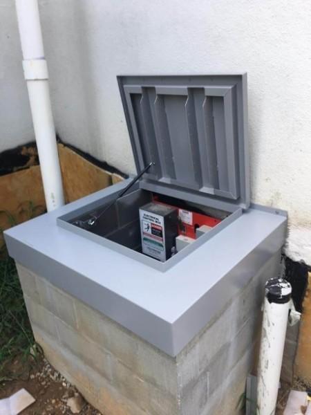LuciGold lightweight all aluminum basement bulkhead door, flat profile hatch for utilitarian uses