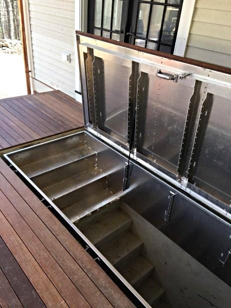 Hidden Access to Cellar _LuciGold All Aluminum Basement Bulkhead Door
