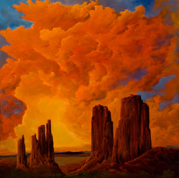 """MONUMENT VALLEY, oil 60""""x48"""""""