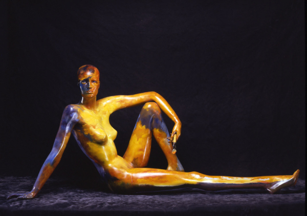 A PAINTED LADY, SEATED