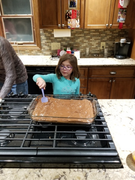 Ellie makes toffee squares