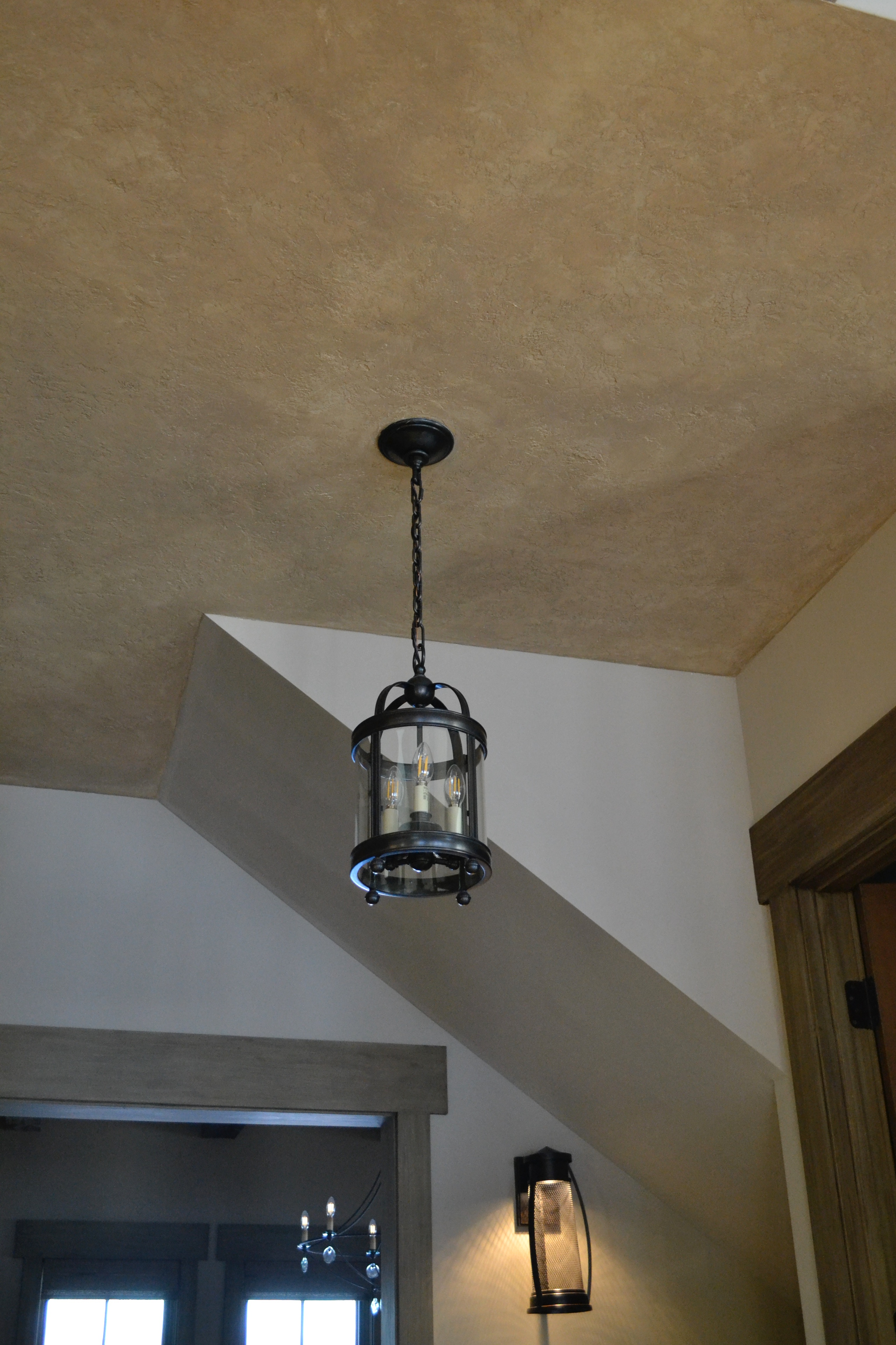 Faux finish on the ceiling