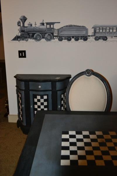 adding some fun detail to a furniture
