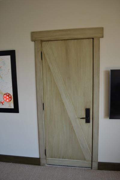 rustic finish on the door