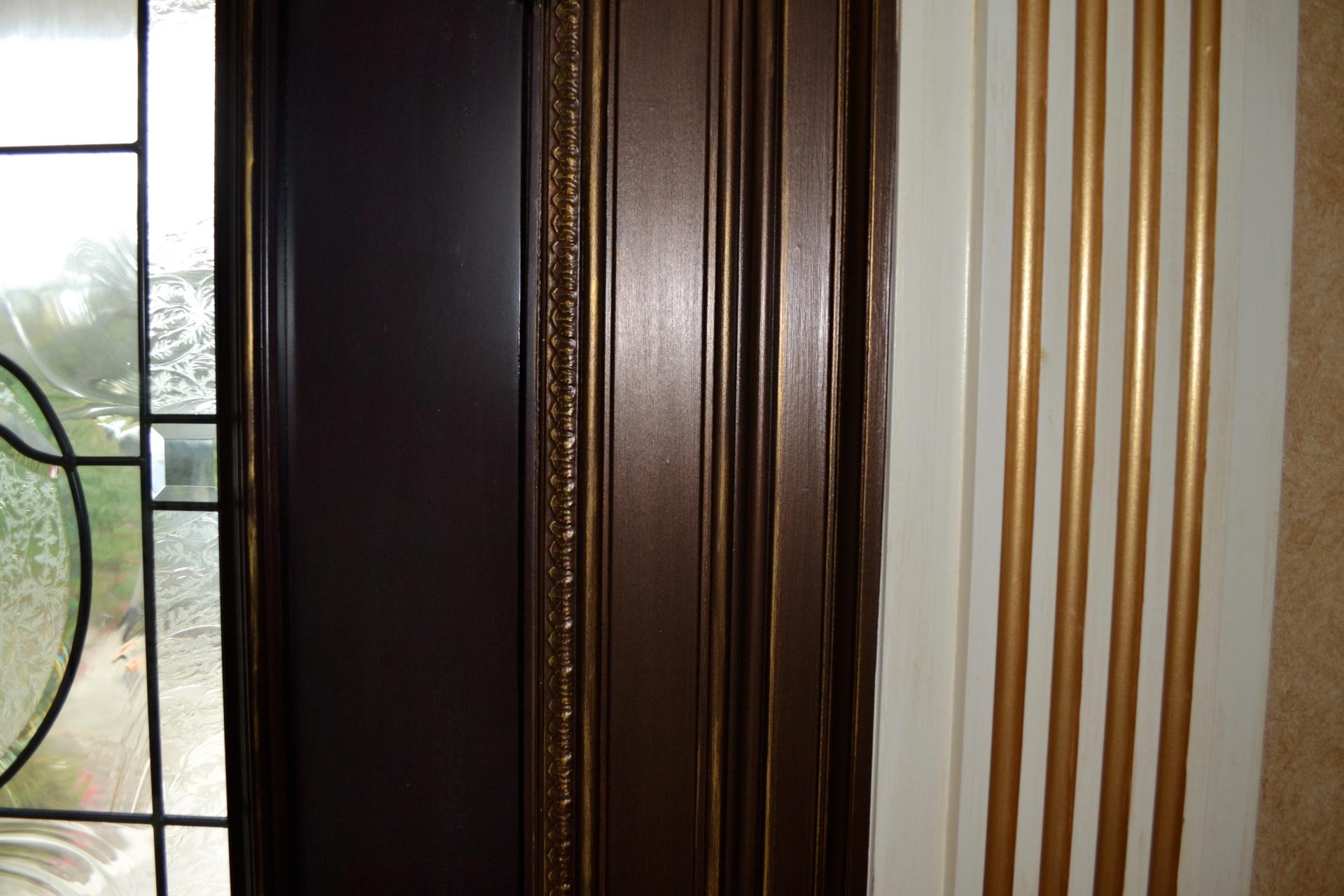 molding around the front door