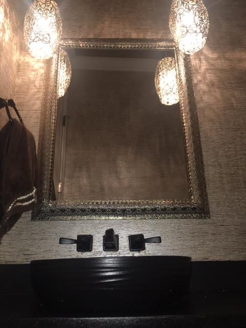 metallic powder room