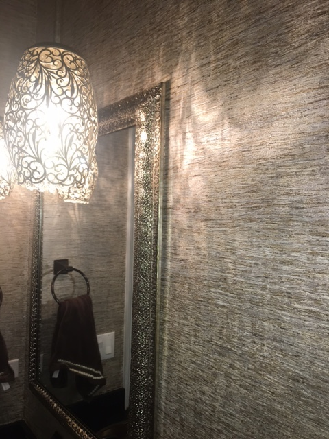 metallic powder room