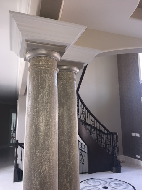 beads on the columns