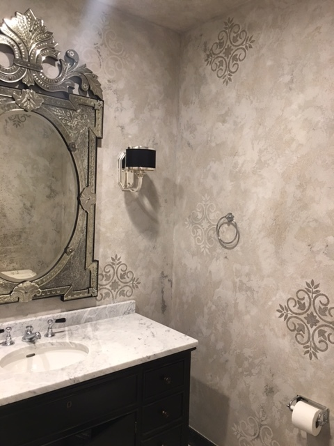 powder room finish