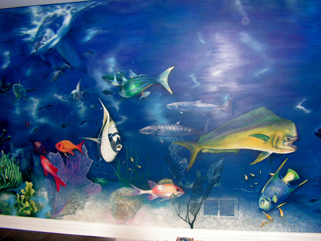 Under ocean life on the wall
