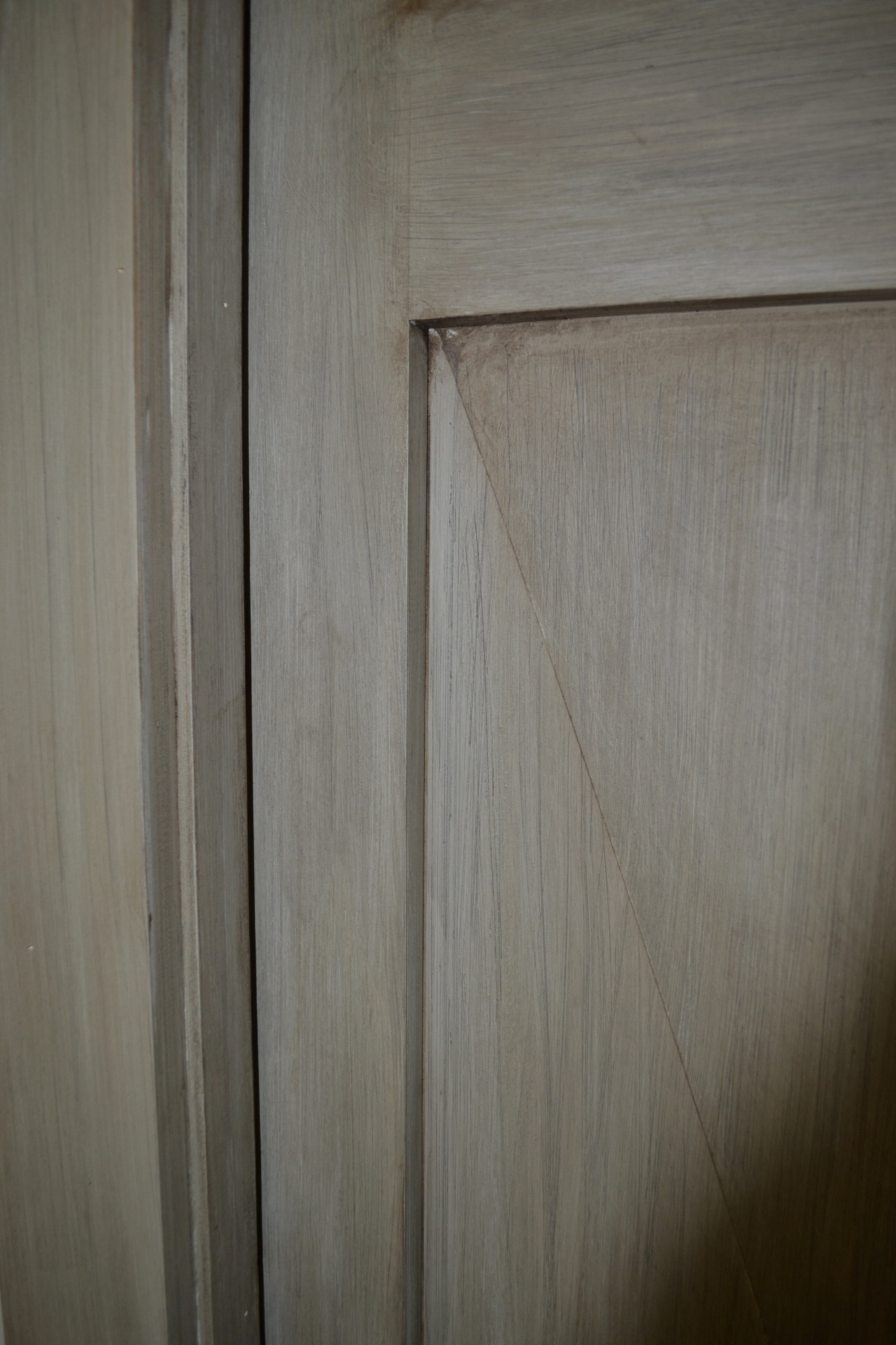 rustic finish on the door