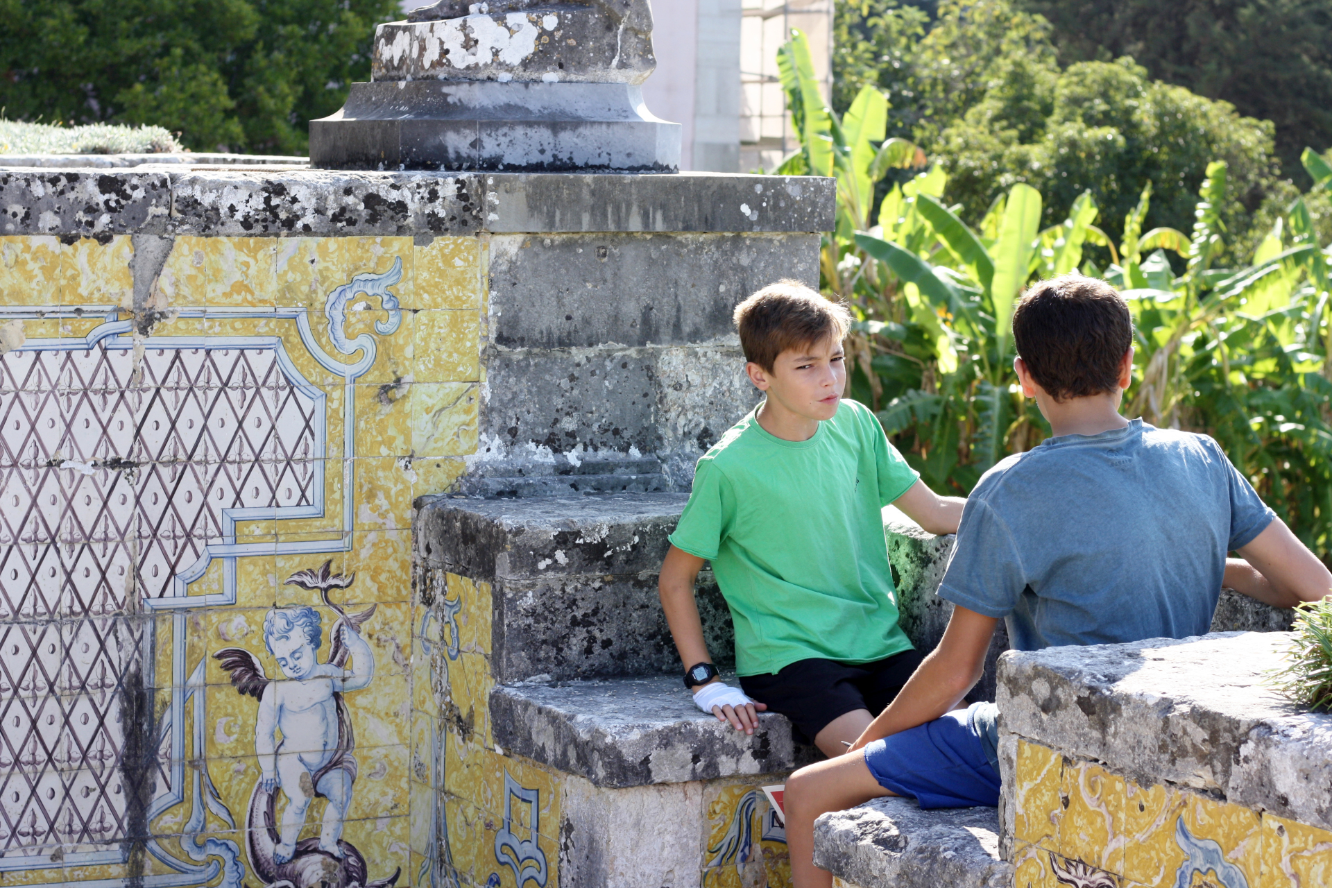 Palast und Garten des Marquês in Oeiras