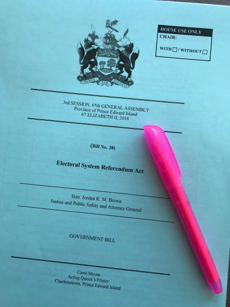 Bill 38 - Electoral System Referendum Act - Second Reading