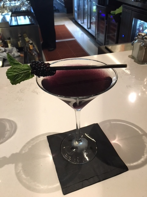 Blackberry Pinnacle martini