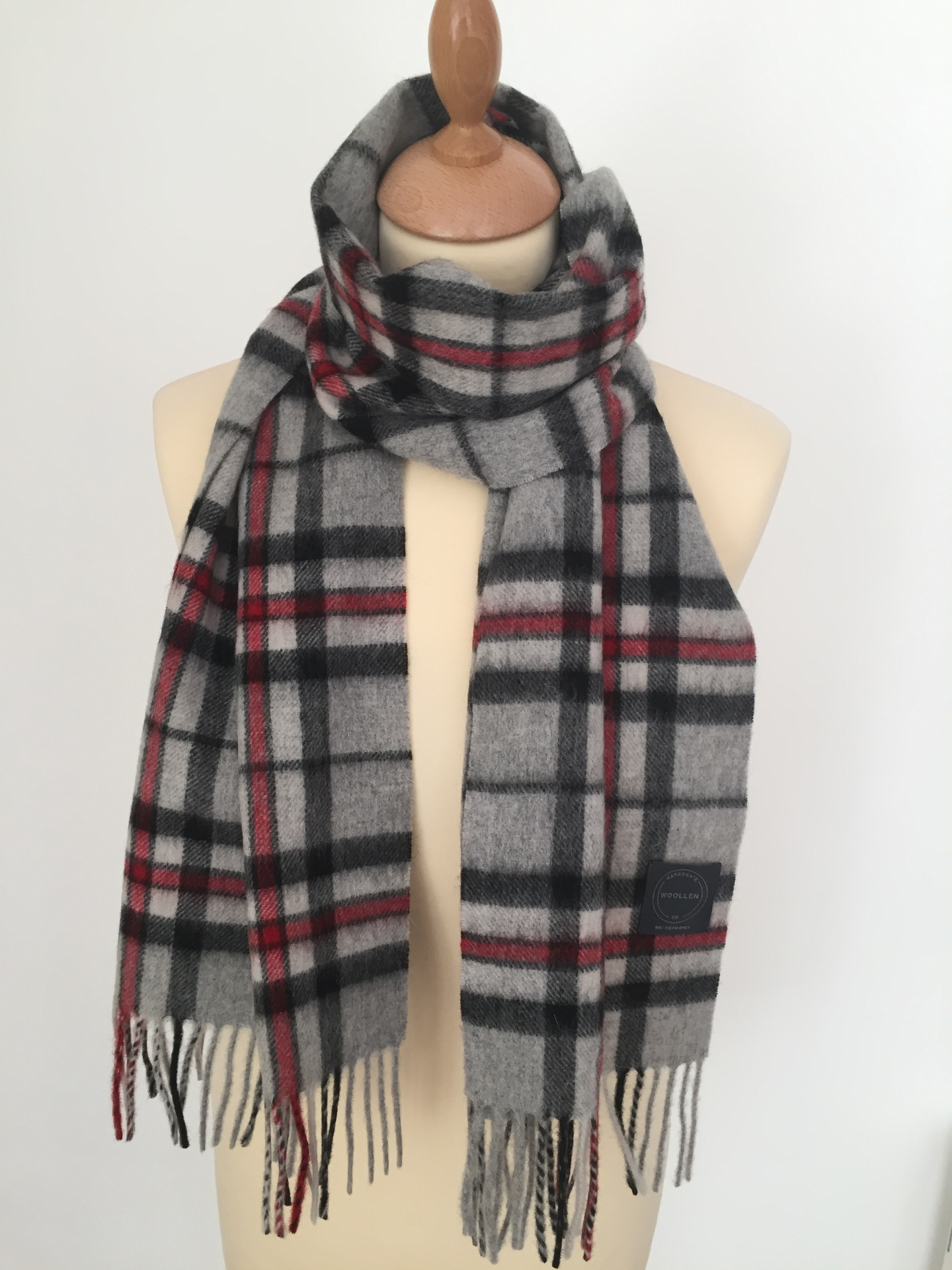 Grey Thompson Tartan Lambswool scarf