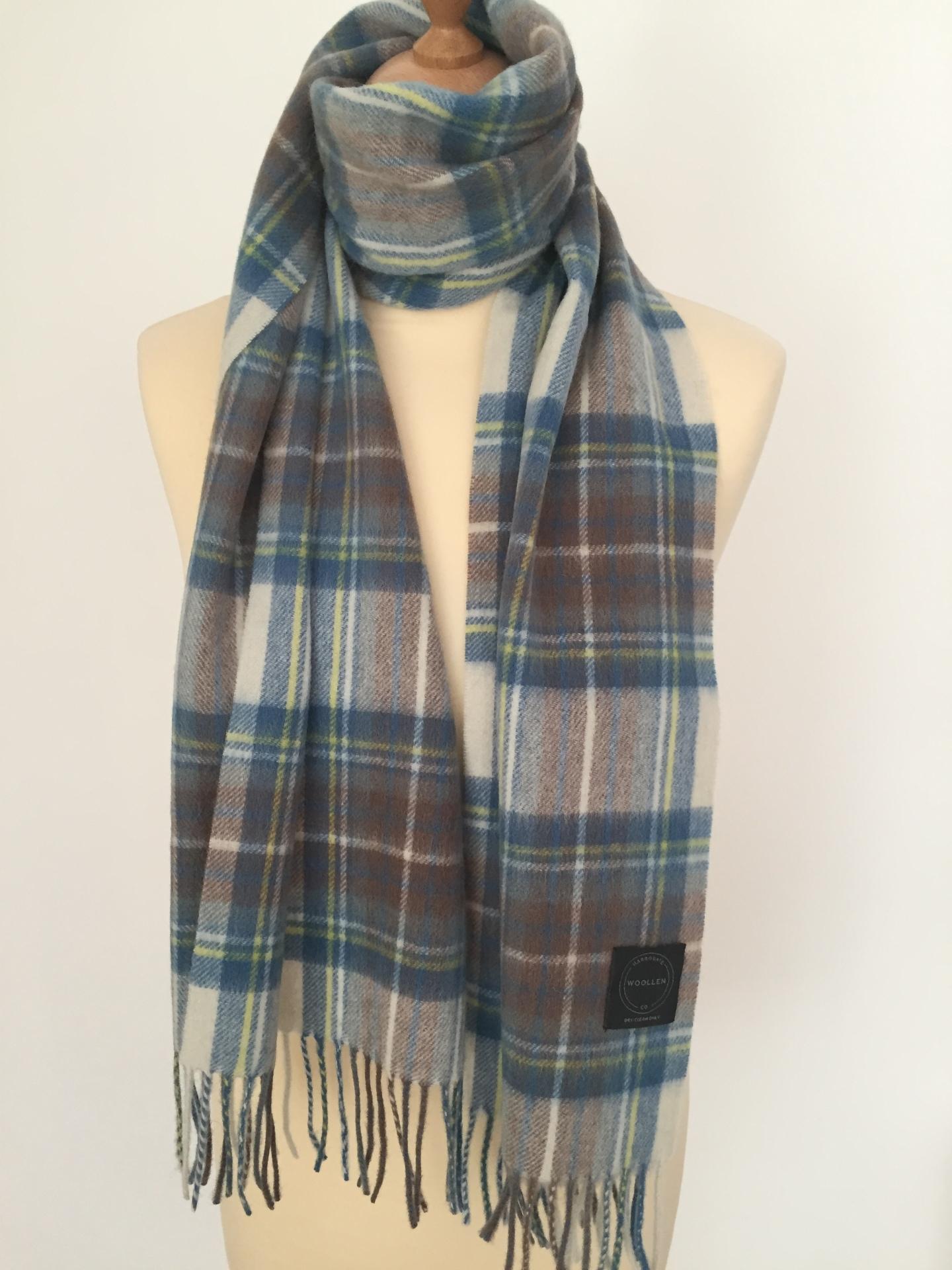 MB Stewart Tartan Lambswool scarf