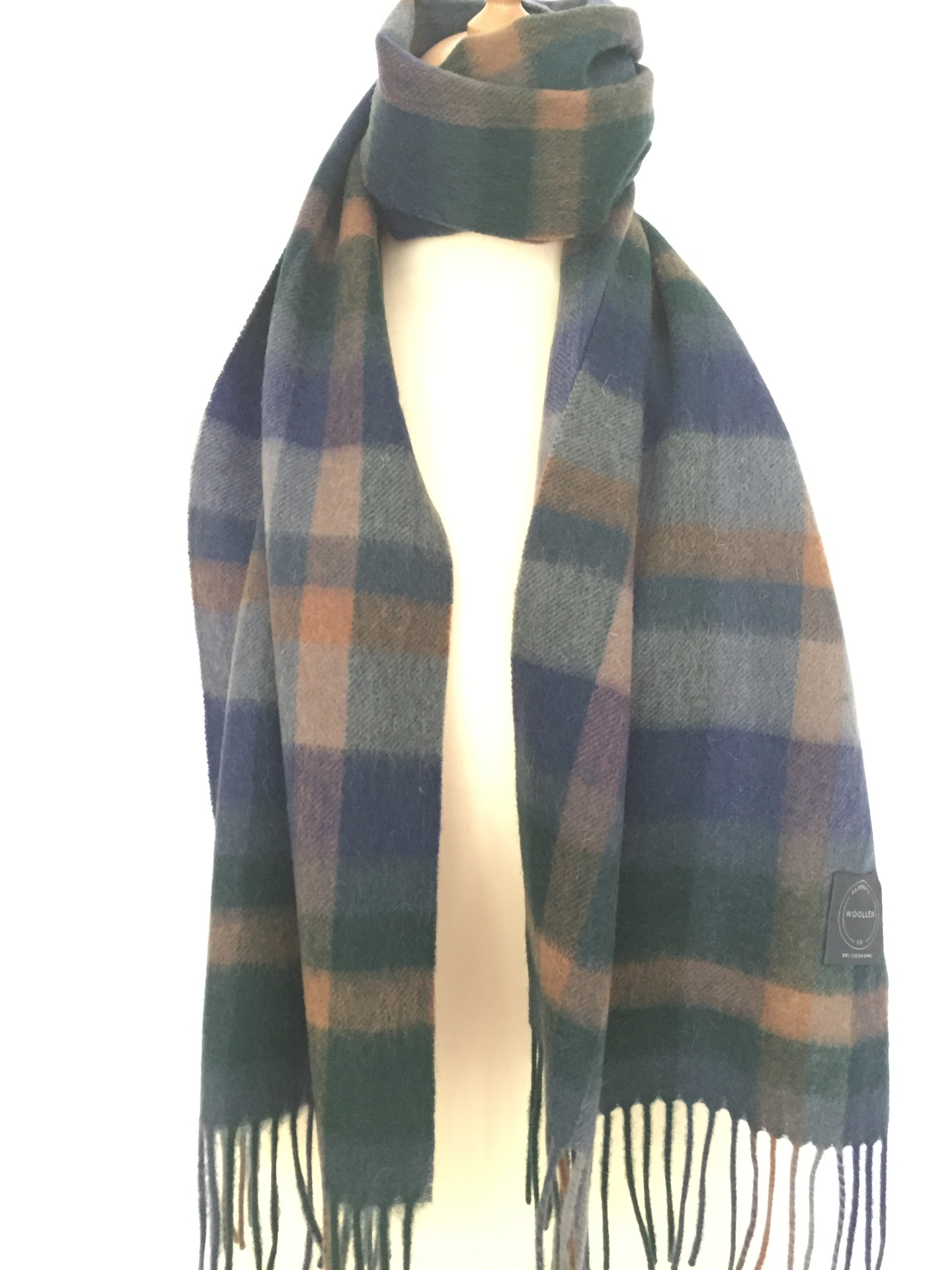Blue/orange 806 Lambswool scarf