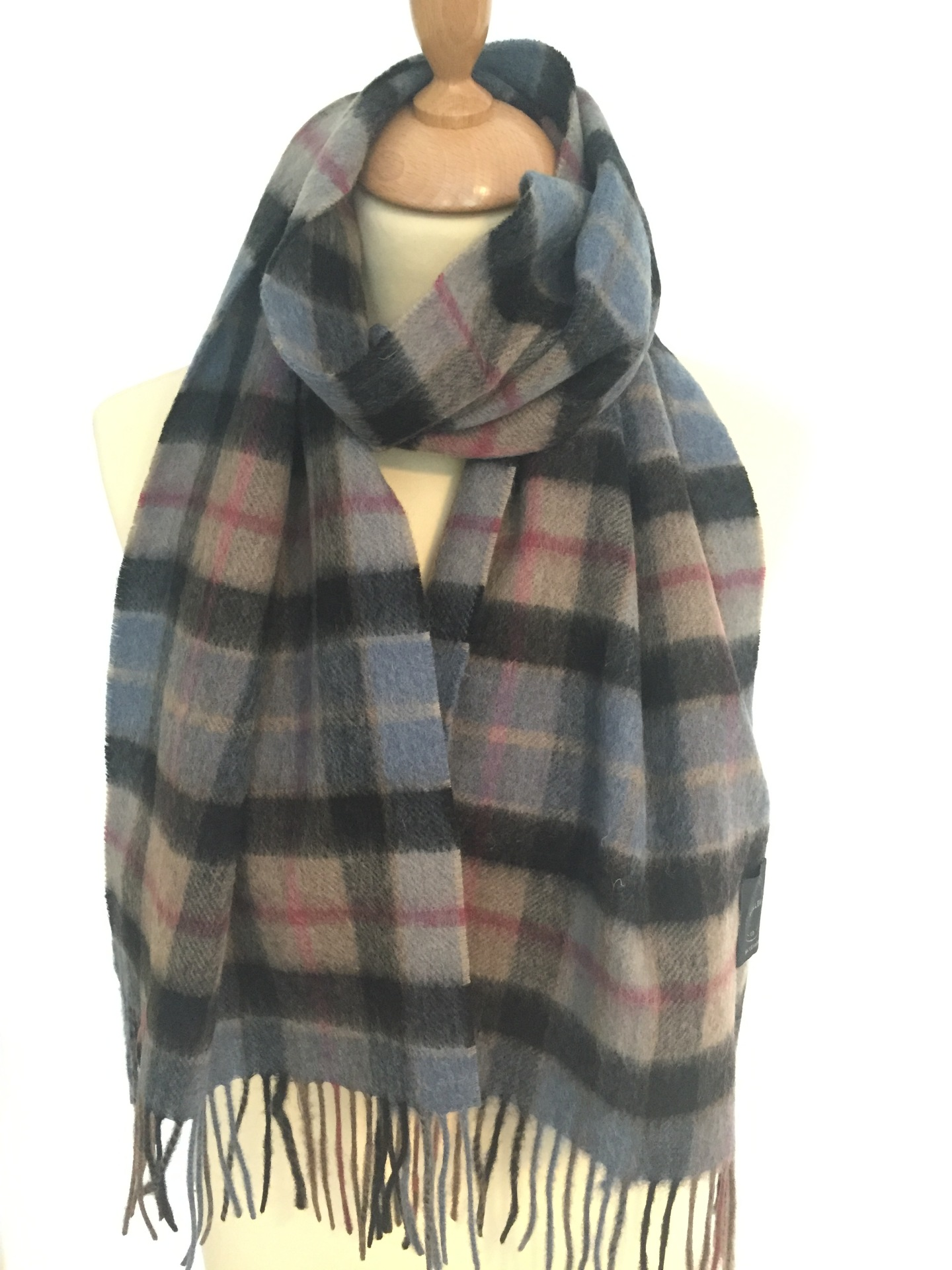 Blue/grey 804 Lambswool scarf