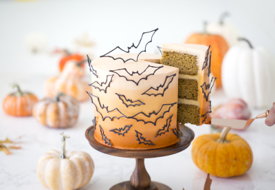 Bat Cake Featured on the Fall Cover of Orange Count Magazine by the Preppy Kitchen