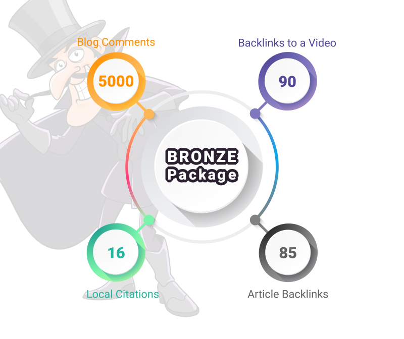 Bronze SEO Package - Search Engine Optimization Backlink Campaign