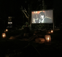 Indoor outdoor portable movie screen rental Sag Harbor NY