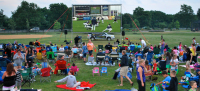 Outdoor portable movie screen rentals Calverton New York