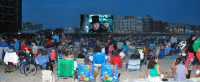 Indoor outside portable movie screen rentals Sag Harbor New York
