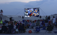 Outdoor portable movie screen rentals Long Beach New York