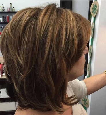 Dark Brown with Honey Highlights