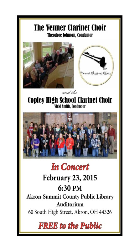 VCC and the Copley High School Clarinet Choir