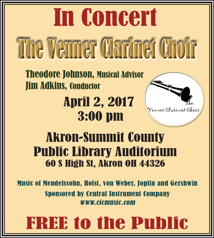 The Venner Clarinet Choir Concerts & Events