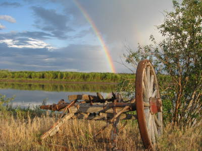 Rainbow over the Yukon River