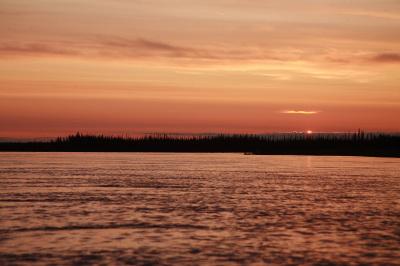 2AM kayaking on the Yukon River