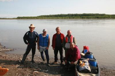 Yukon River the gang at Slaven's.