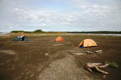 Island Camp on the Yukon. When we were all together.